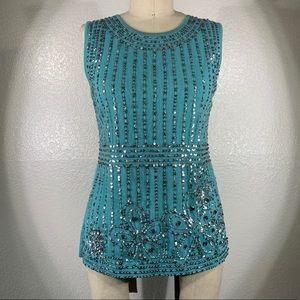 Valentino Cotton Knit sleeveless Hera Top NWOT